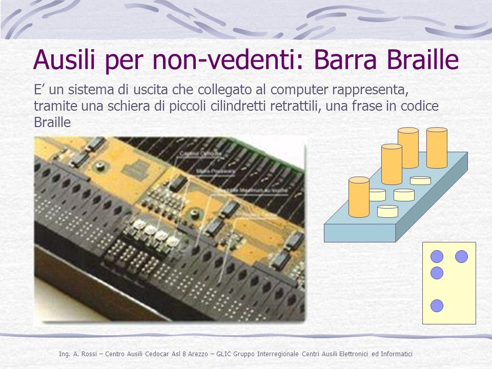 Ausili per non-vedenti: Barra Braille