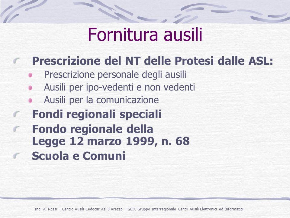 Fornitura ausili Prescrizione del NT delle Protesi dalle ASL: