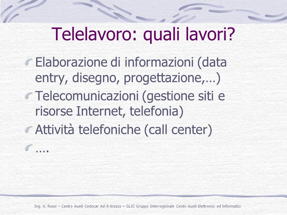 Telelavoro: quali lavori