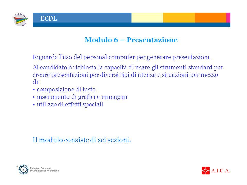 Modulo 6 – Presentazione