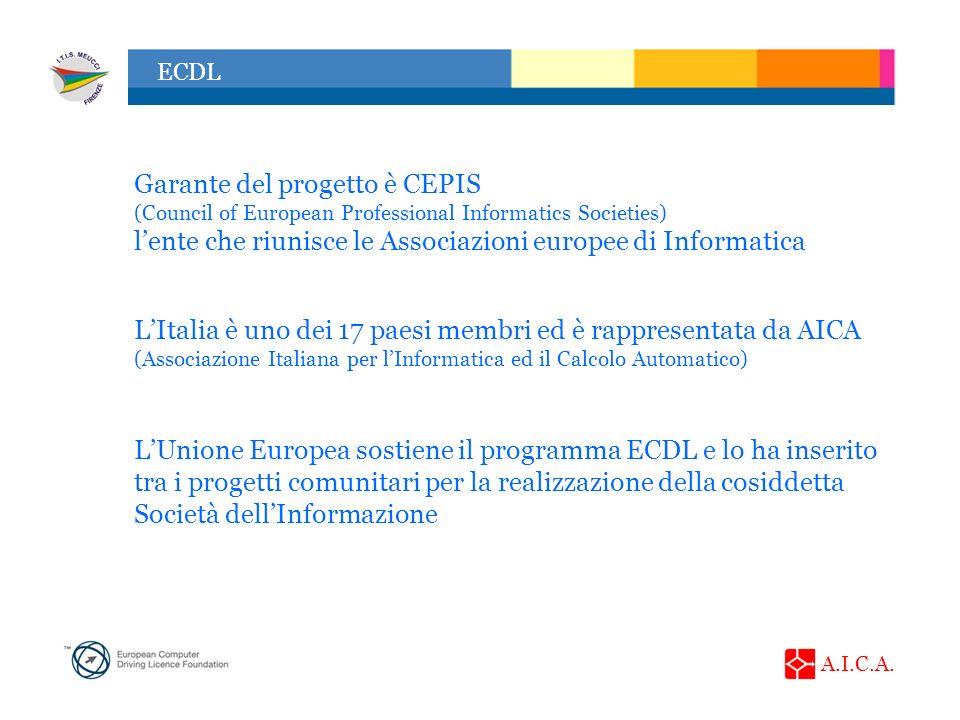 Garante del progetto è CEPIS