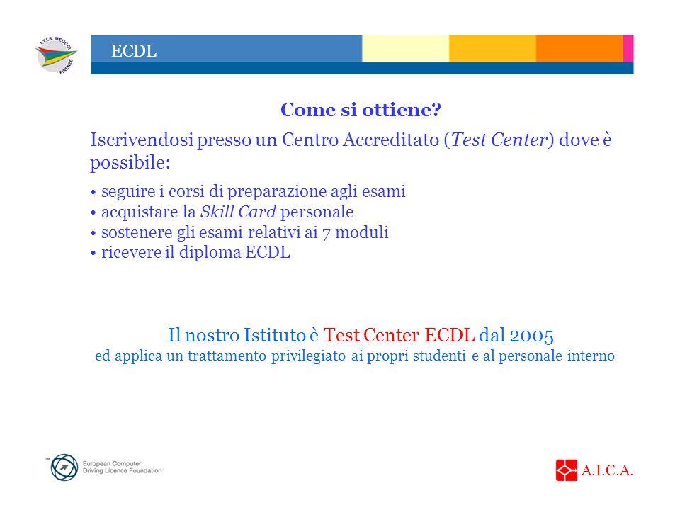 Il nostro Istituto è Test Center ECDL dal 2005