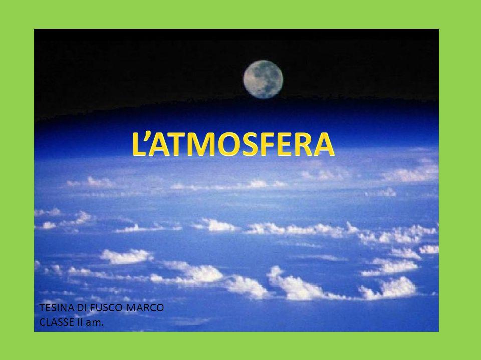 L'ATMOSFERA TESINA DI FUSCO MARCO CLASSE II am.