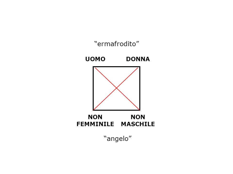 ermafrodito UOMO DONNA NON FEMMINILE NON MASCHILE angelo