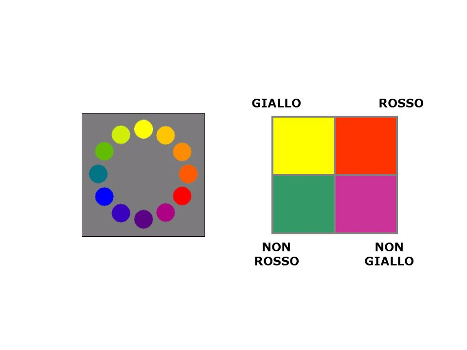 GIALLO ROSSO NON ROSSO NON GIALLO