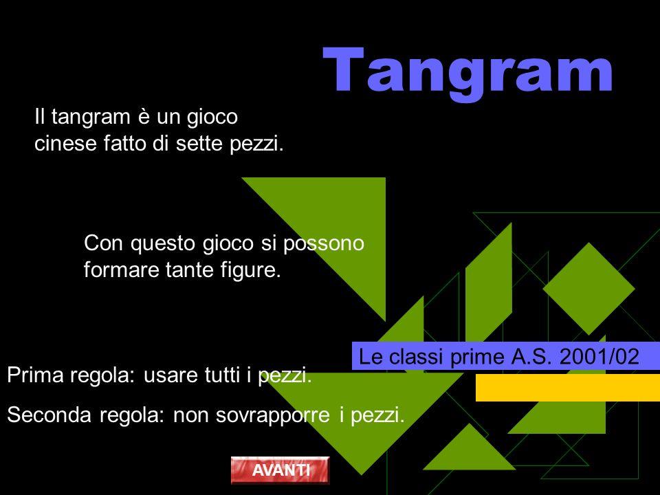 Tangram Il tangram è un gioco cinese fatto di sette pezzi.