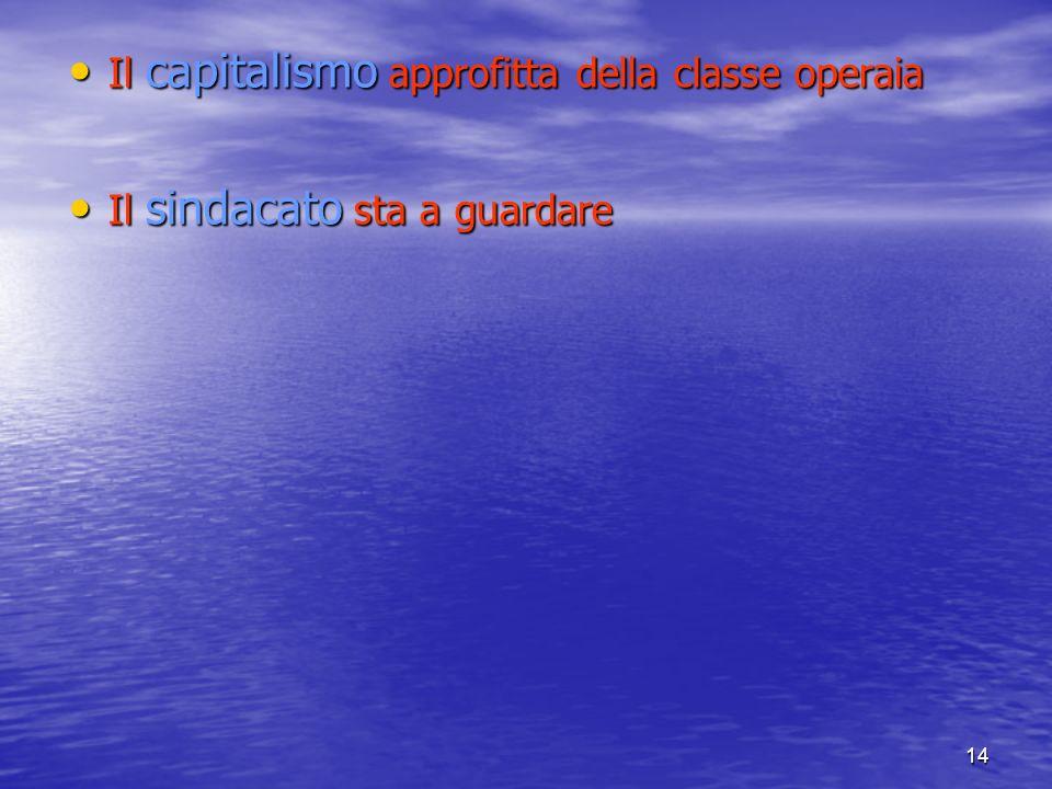 Il capitalismo approfitta della classe operaia