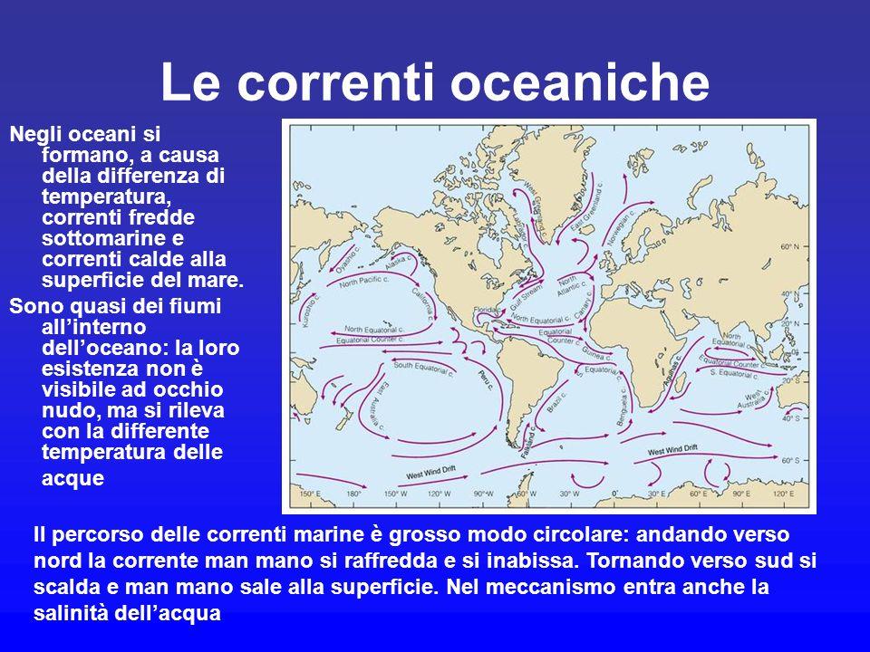 Le correnti oceaniche