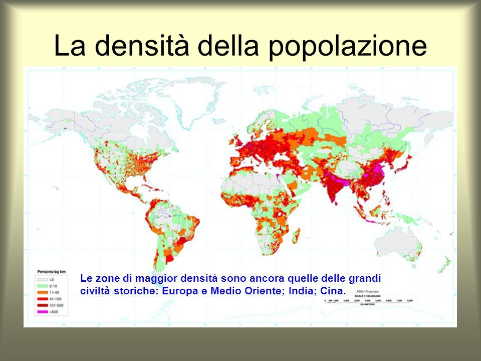 La densità della popolazione