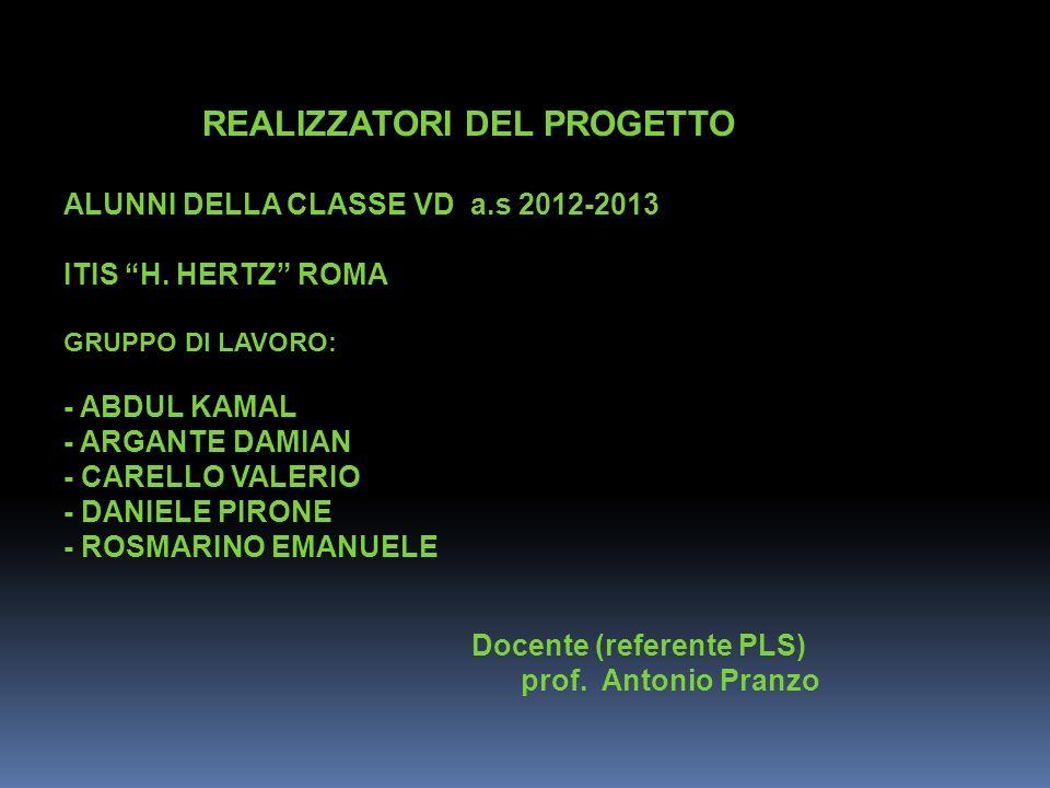 ALUNNI DELLA CLASSE VD a.s 2012-2013 ITIS H. HERTZ ROMA