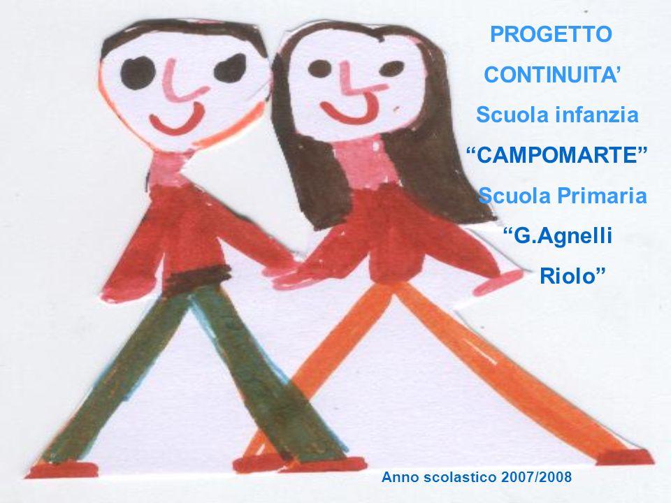 PROGETTO CONTINUITA' CAMPOMARTE Scuola Primaria G.Agnelli Riolo