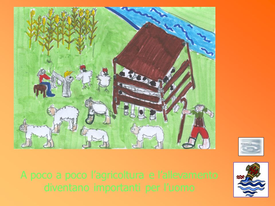 A poco a poco l'agricoltura e l'allevamento