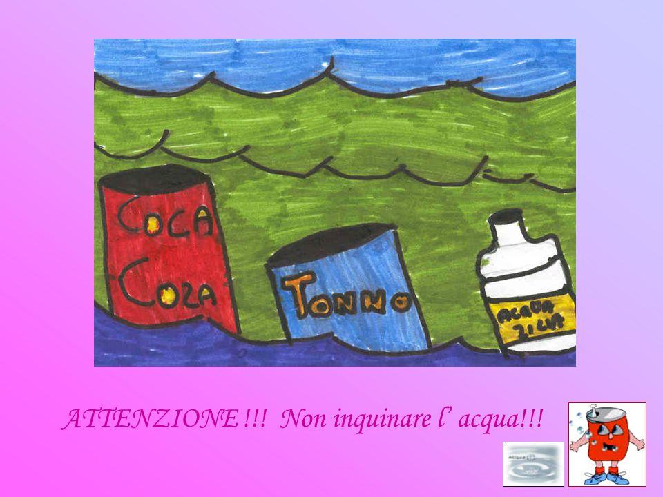 ATTENZIONE !!! Non inquinare l' acqua!!!