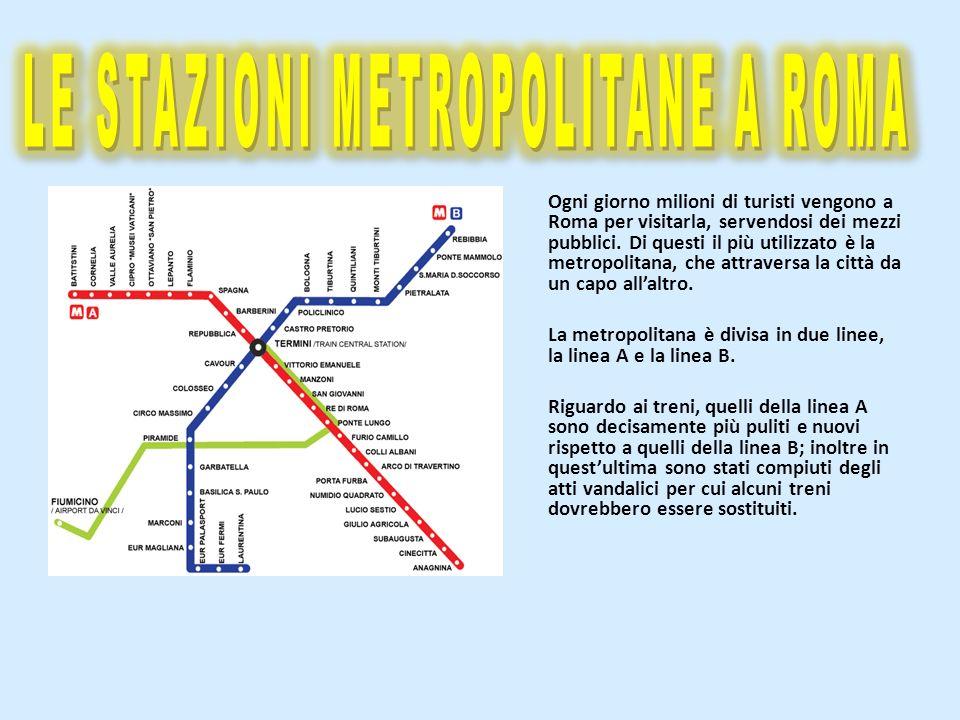 LE STAZIONI METROPOLITANE A ROMA