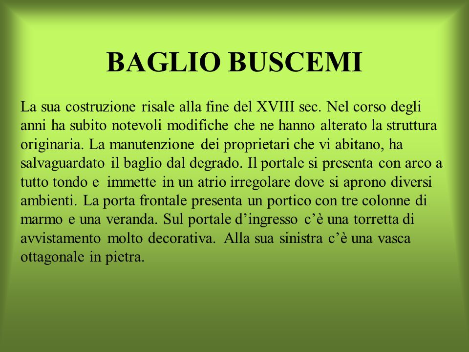 BAGLIO BUSCEMI