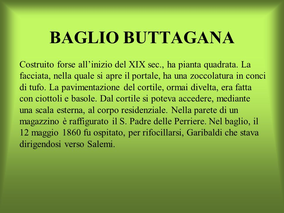 BAGLIO BUTTAGANA