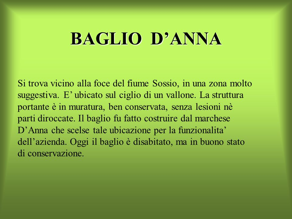 BAGLIO D'ANNA