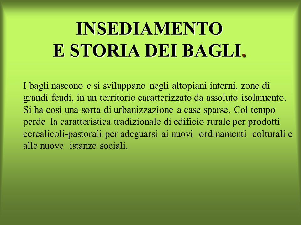 INSEDIAMENTO E STORIA DEI BAGLI.