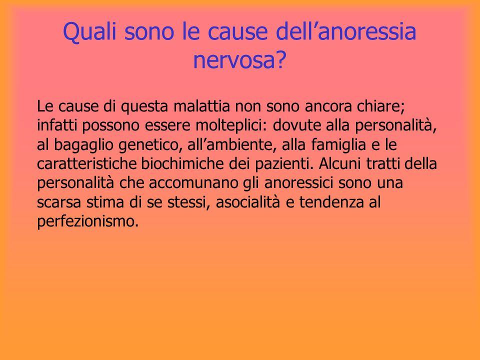 Quali sono le cause dell'anoressia nervosa