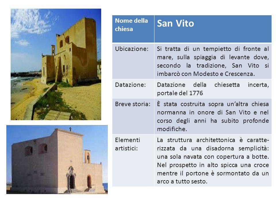 San Vito Nome della chiesa Ubicazione: