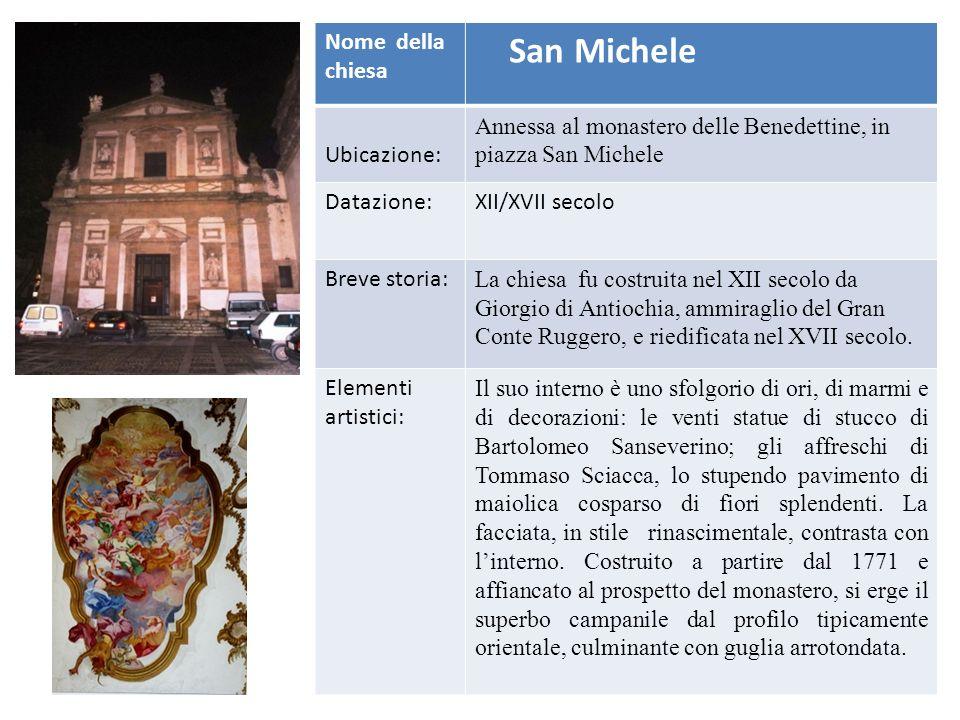 San Michele Nome della chiesa Ubicazione: