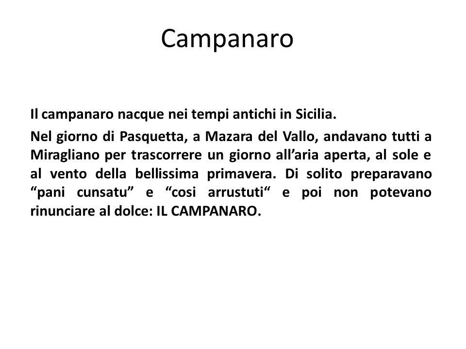 Campanaro Il campanaro nacque nei tempi antichi in Sicilia.
