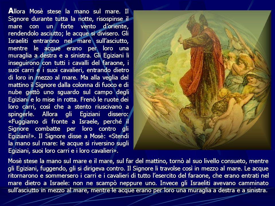 Allora Mosè stese la mano sul mare