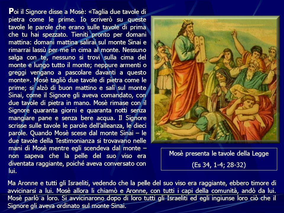 Mosè presenta le tavole della Legge