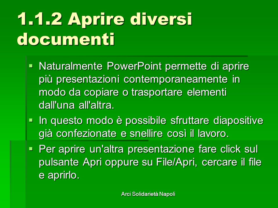 1.1.2 Aprire diversi documenti