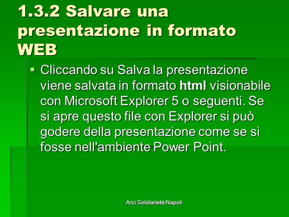 1.3.2 Salvare una presentazione in formato WEB