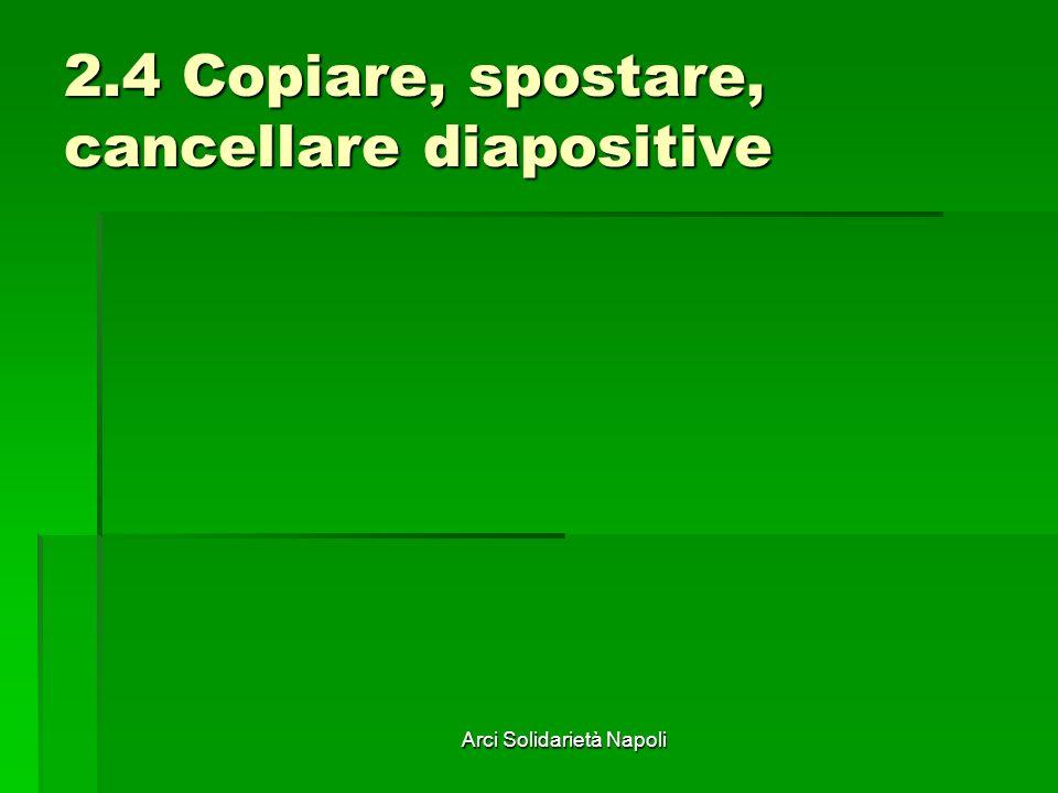 2.4 Copiare, spostare, cancellare diapositive