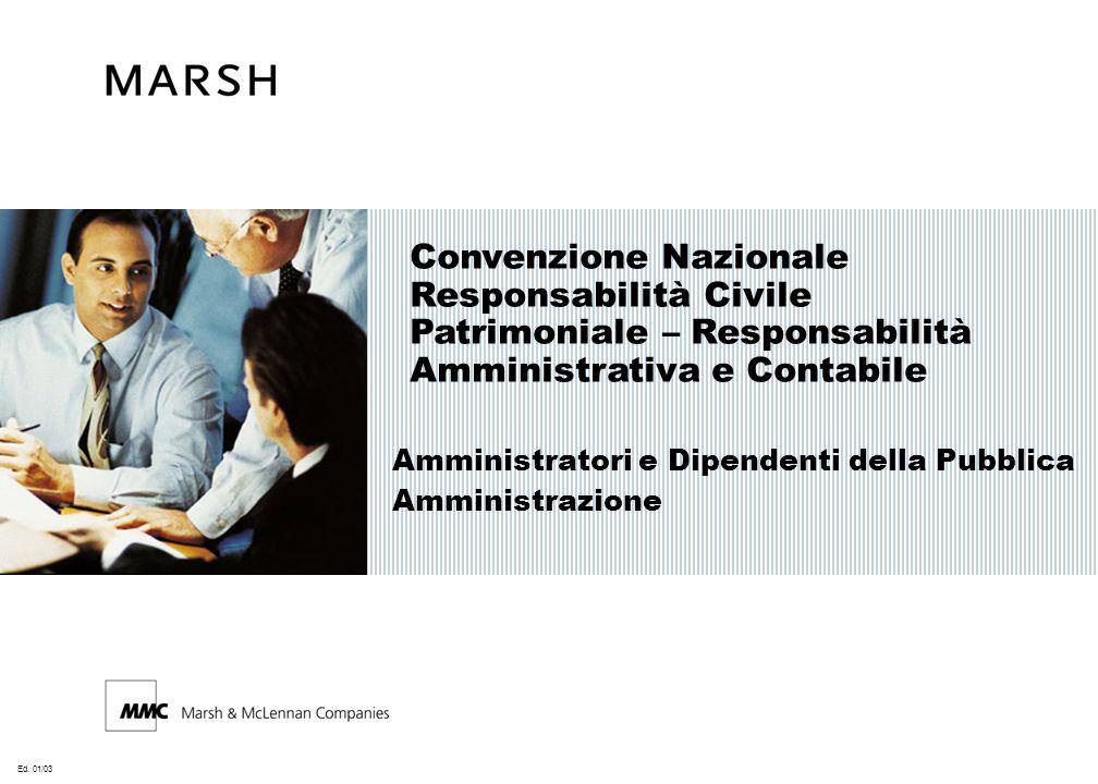 Convenzione Nazionale Responsabilità Civile Patrimoniale – Responsabilità Amministrativa e Contabile