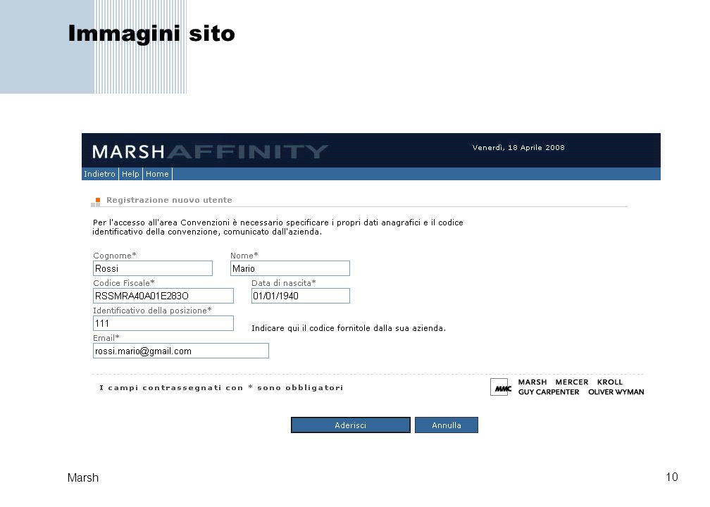 Immagini sito Marsh