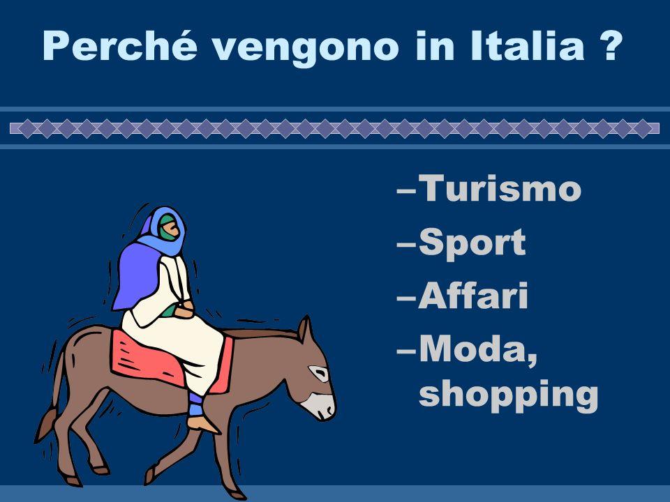 Perché vengono in Italia