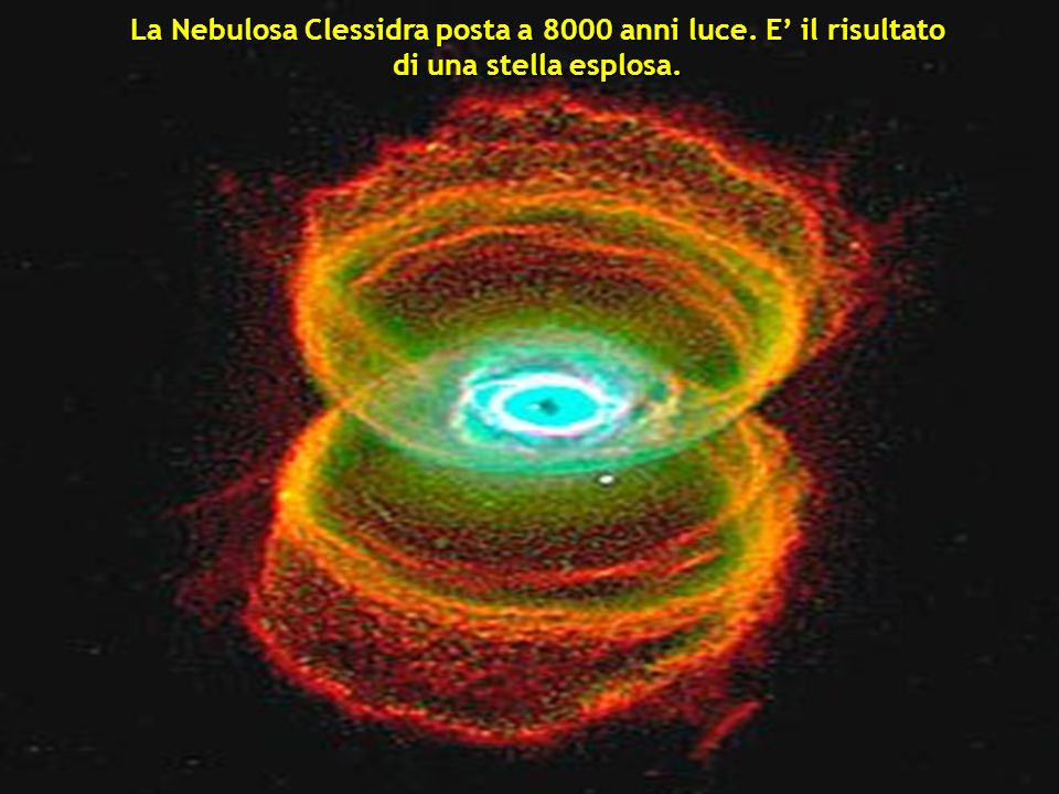 La Nebulosa Clessidra posta a 8000 anni luce