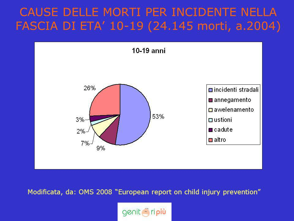 CAUSE DELLE MORTI PER INCIDENTE NELLA FASCIA DI ETA' 10-19 (24