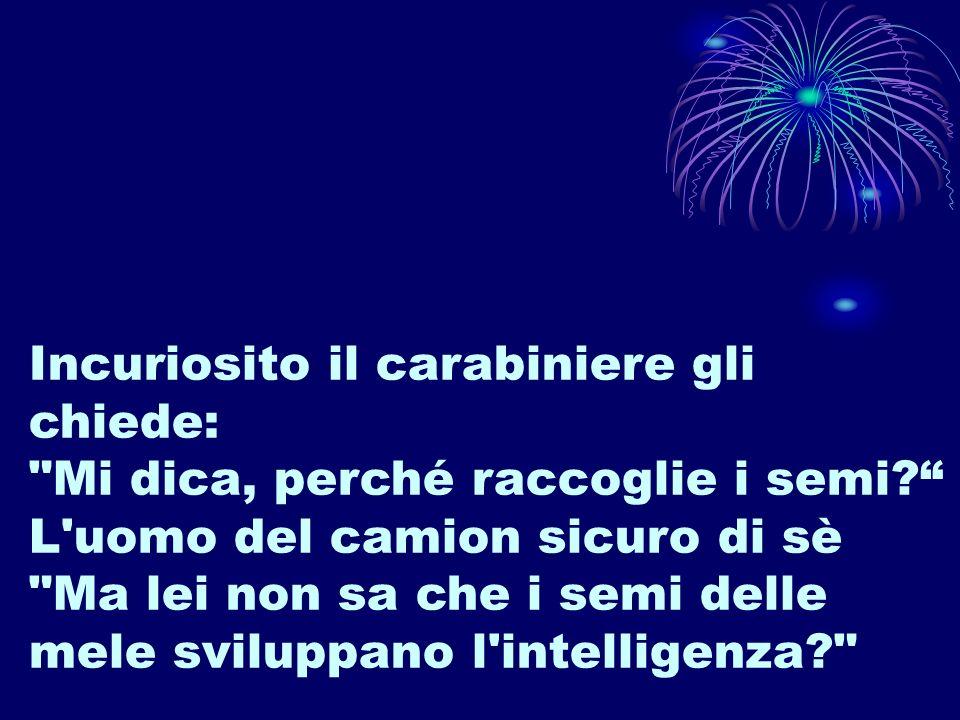 Incuriosito il carabiniere gli chiede: