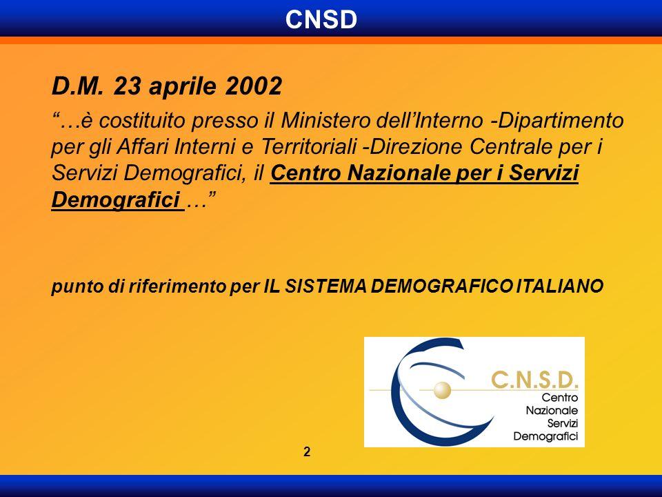 CNSD D.M. 23 aprile 2002.