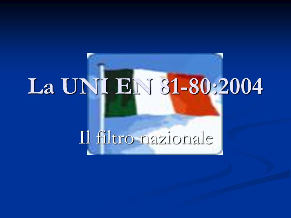 La UNI EN 81-80:2004 Il filtro nazionale