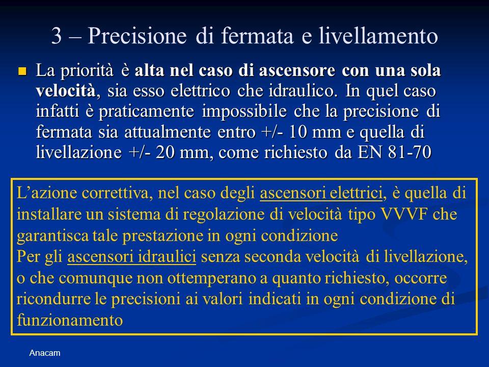 3 – Precisione di fermata e livellamento
