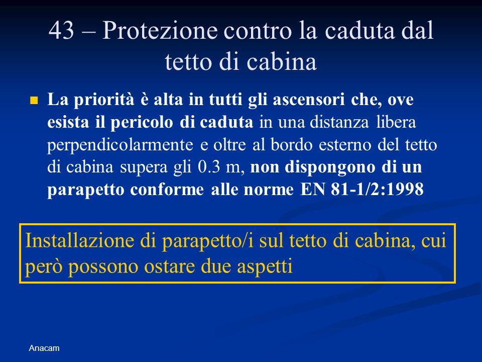 43 – Protezione contro la caduta dal tetto di cabina