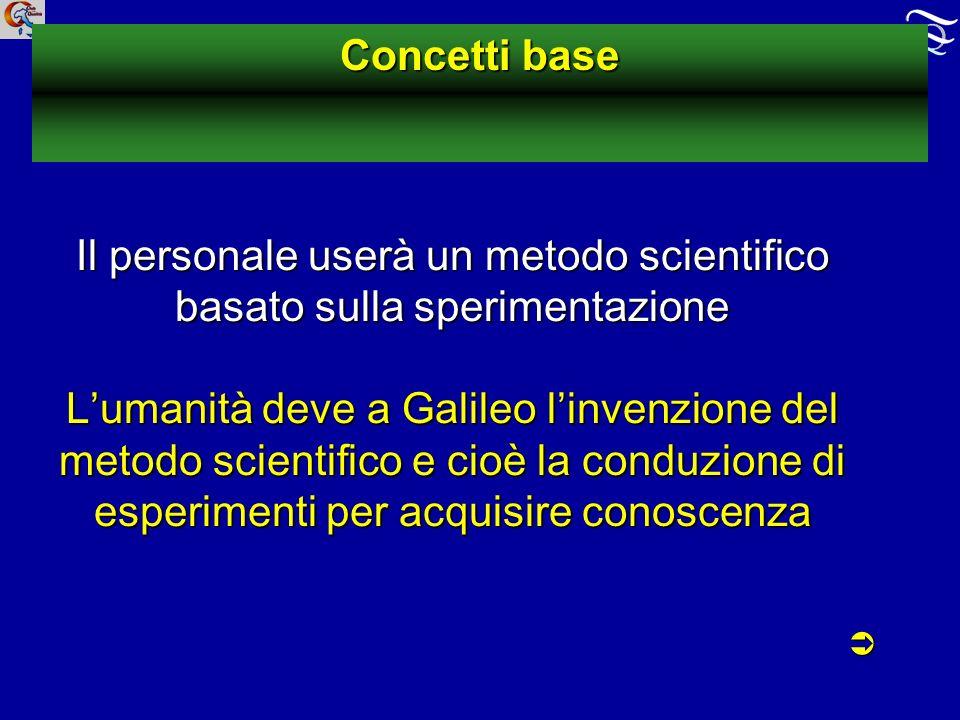 Il personale userà un metodo scientifico basato sulla sperimentazione