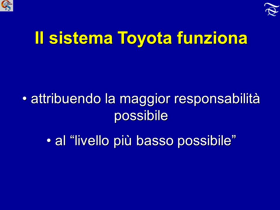 Il sistema Toyota funziona