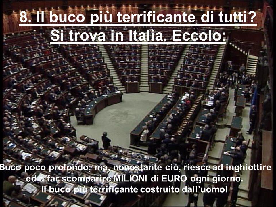 8. Il buco più terrificante di tutti Si trova in Italia. Eccolo: