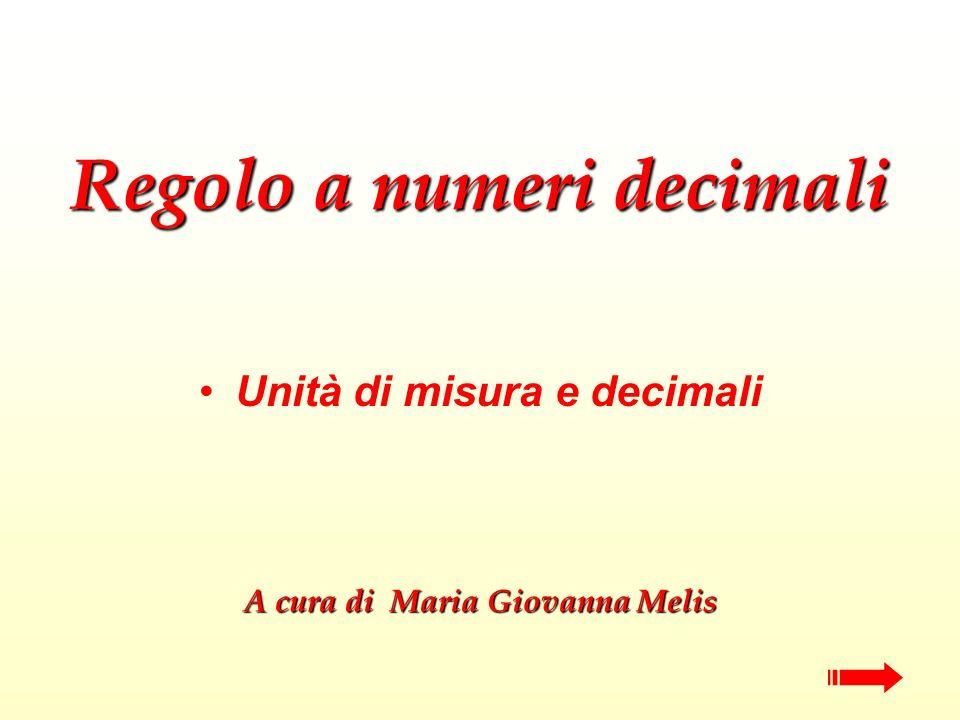 Regolo a numeri decimali