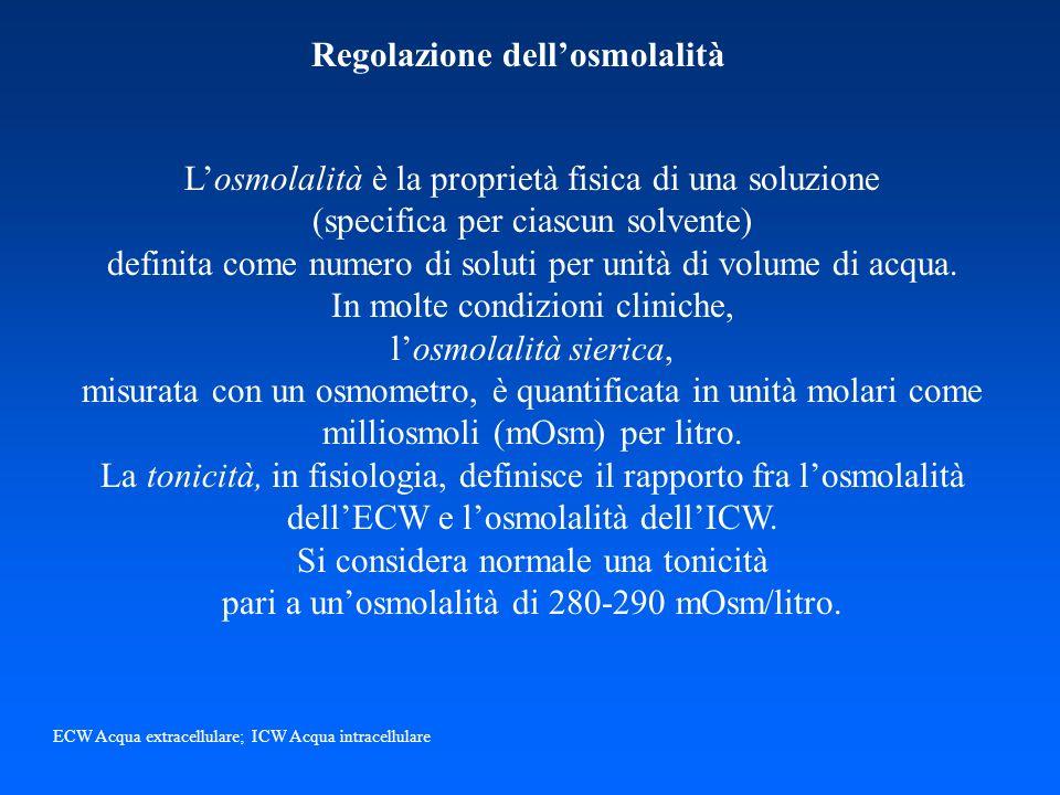 Regolazione dell'osmolalità