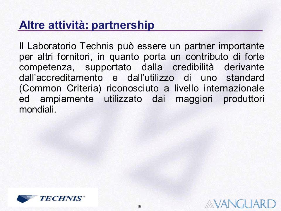 Altre attività: partnership