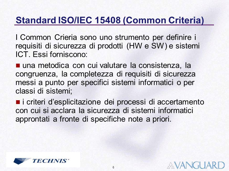 Standard ISO/IEC 15408 (Common Criteria)
