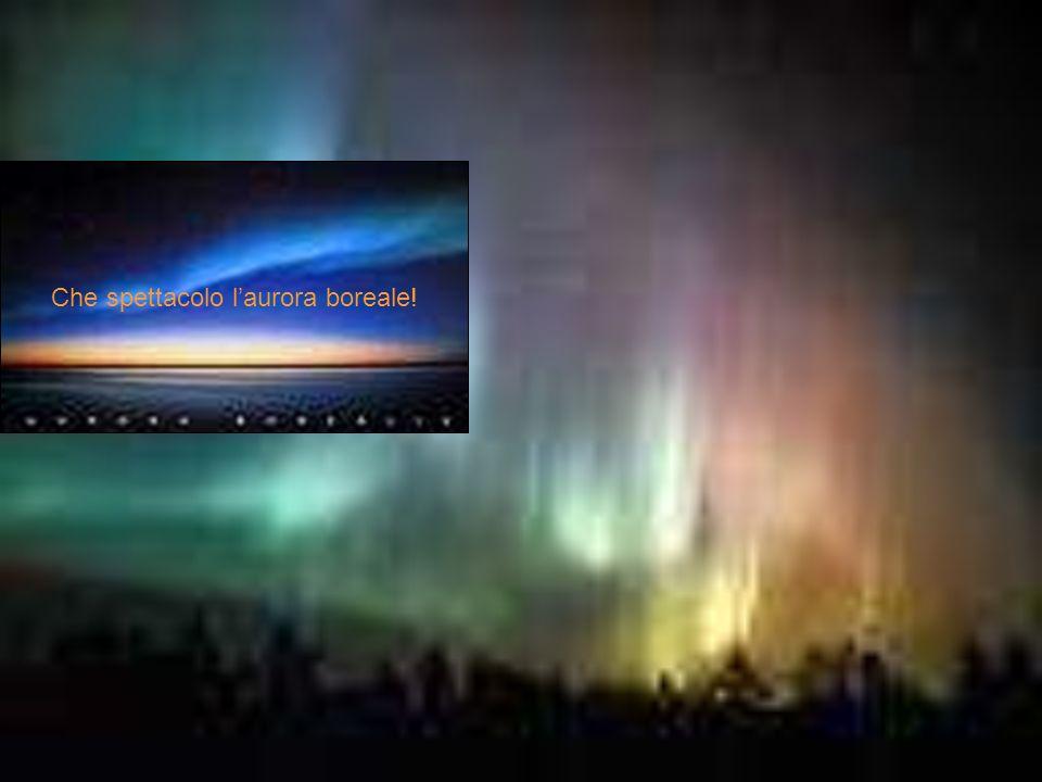 Che spettacolo l'aurora boreale!