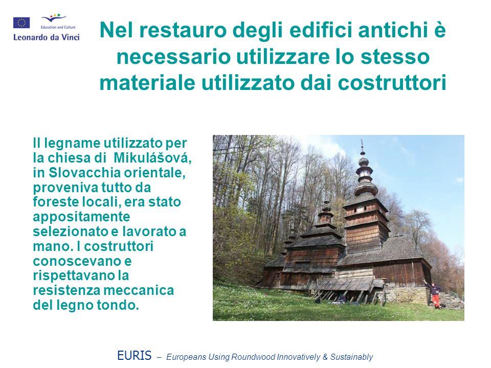 Nel restauro degli edifici antichi è necessario utilizzare lo stesso materiale utilizzato dai costruttori